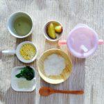 8ヶ月の離乳食。つかみ食べ、ゆで卵や、うどんなど食べました^_^